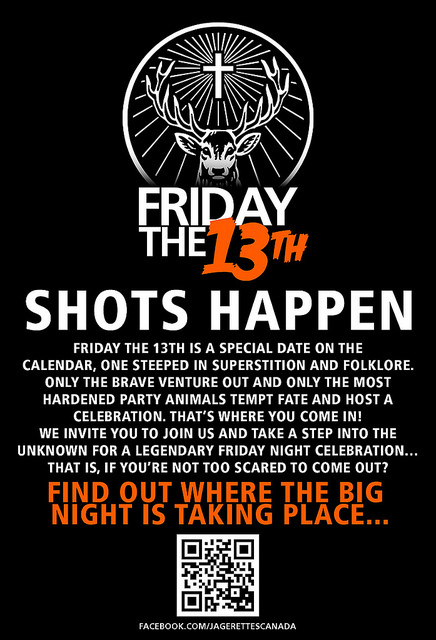 Friday the 13th party poster shots happen