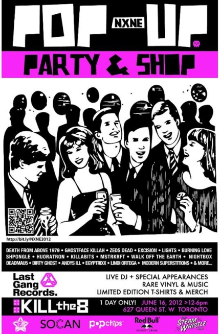 Last Gang NXNE 2012 pop-up shop flyer